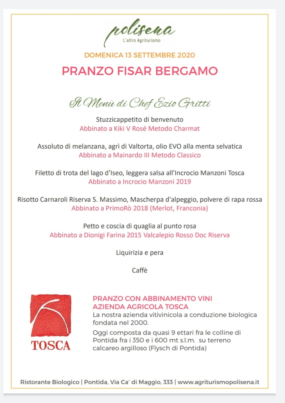 FISAR Pranzo Fisar Bergamo
